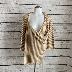 Anthropologie Wooden Ships knit sweater cardigan